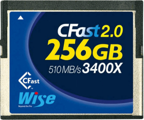 WISE Carte CFast 2.0 VGP 130 3400x 256Gb Blue